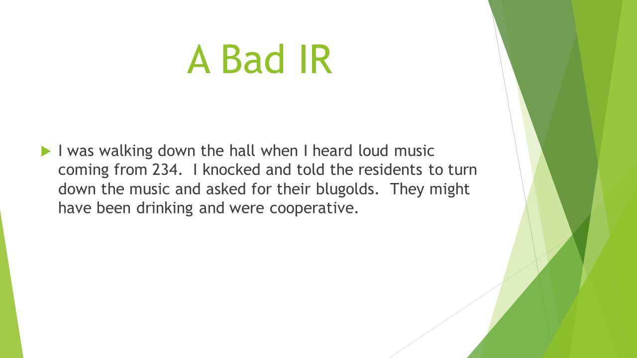 A Bad IR