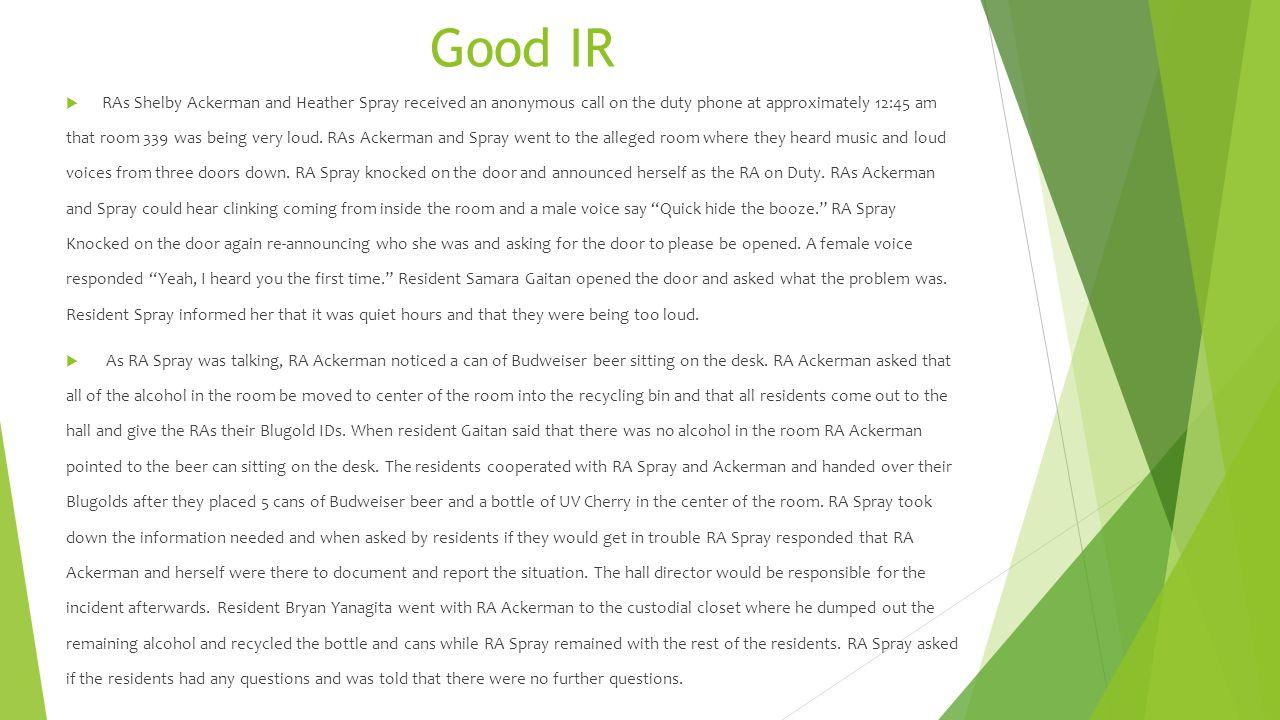 Good IR