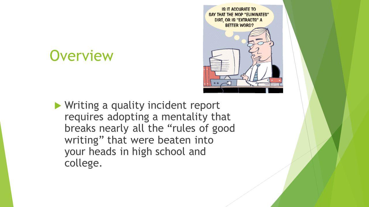 writing a school report