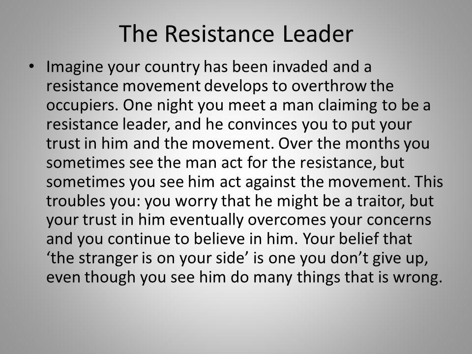 The Resistance Leader