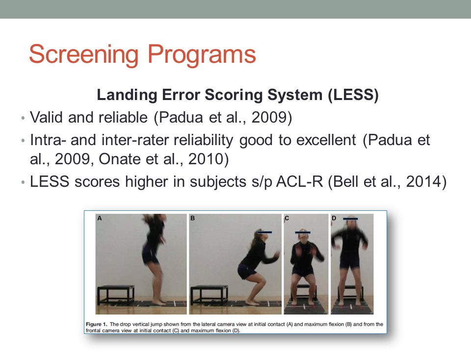 Landing Error Scoring System (LESS)