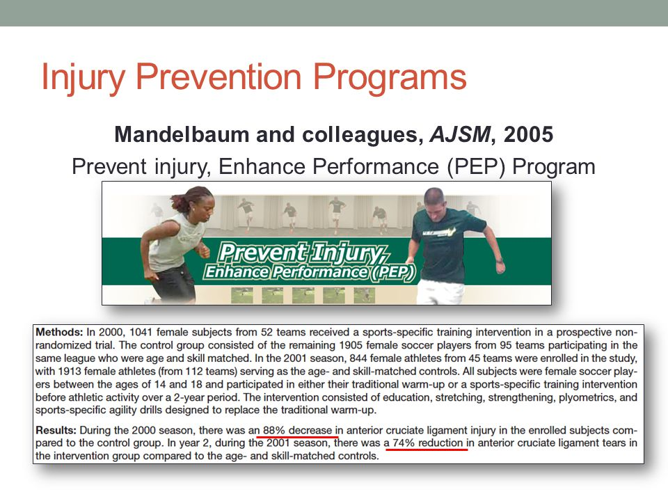 Injury Prevention Programs