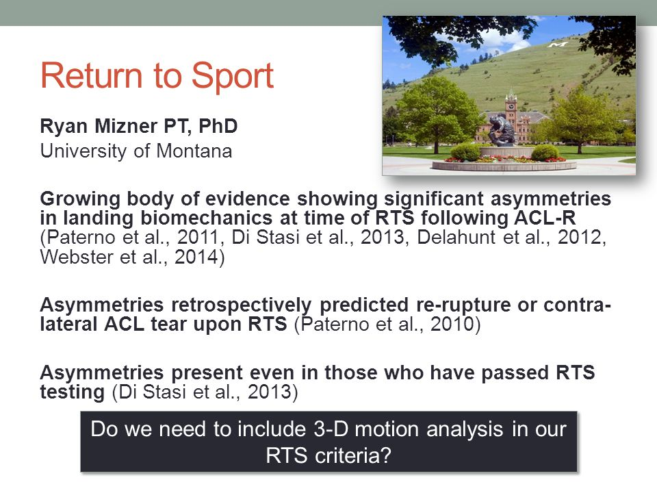 Do we need to include 3-D motion analysis in our RTS criteria