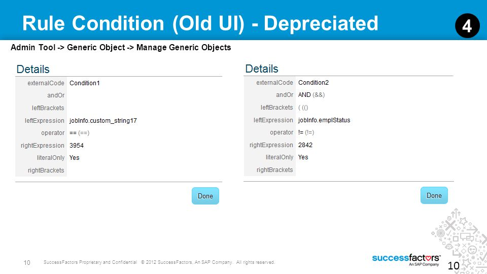 Rule Condition (Old UI) - Depreciated