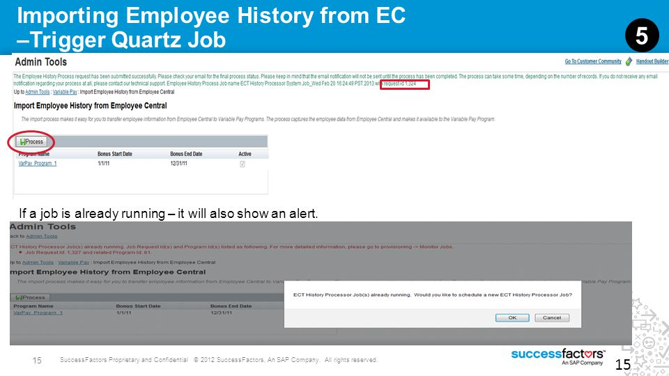 Importing Employee History from EC –Trigger Quartz Job