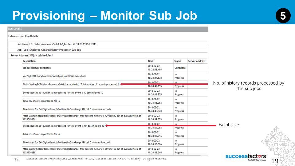 Provisioning – Monitor Sub Job