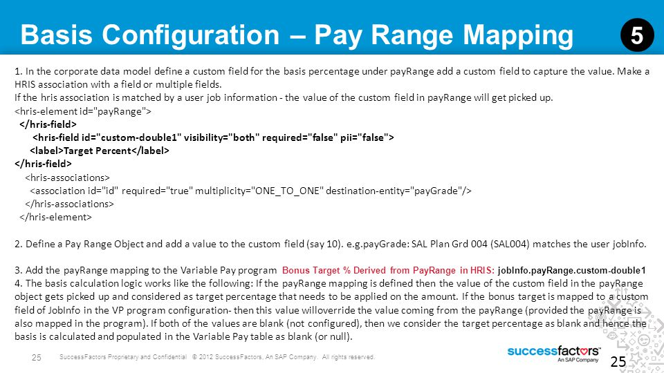 Basis Configuration – Pay Range Mapping