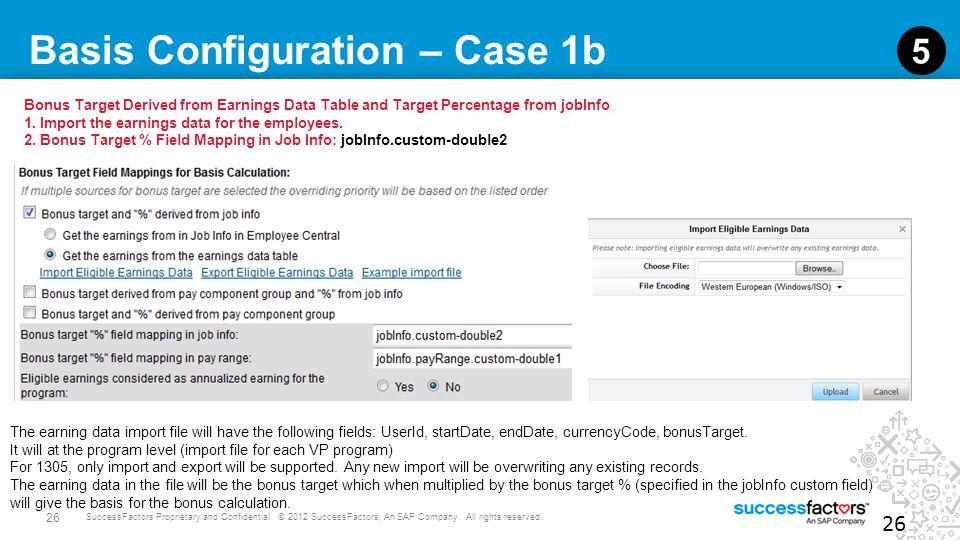 Basis Configuration – Case 1b