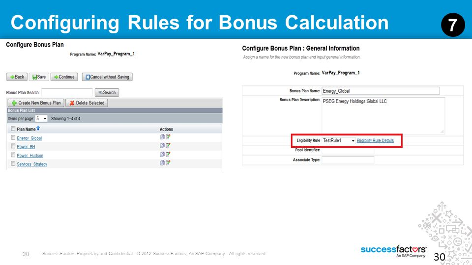 Configuring Rules for Bonus Calculation