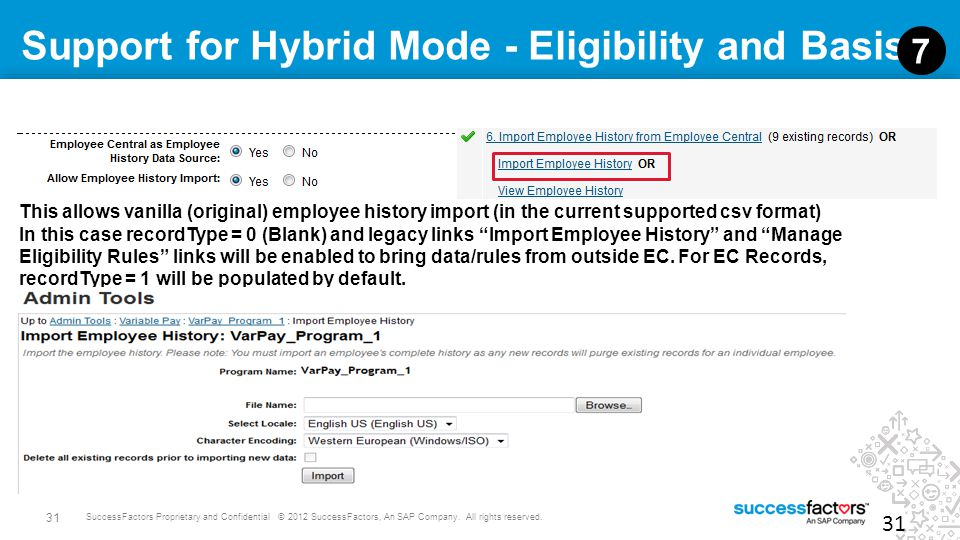 Support for Hybrid Mode - Eligibility and Basis