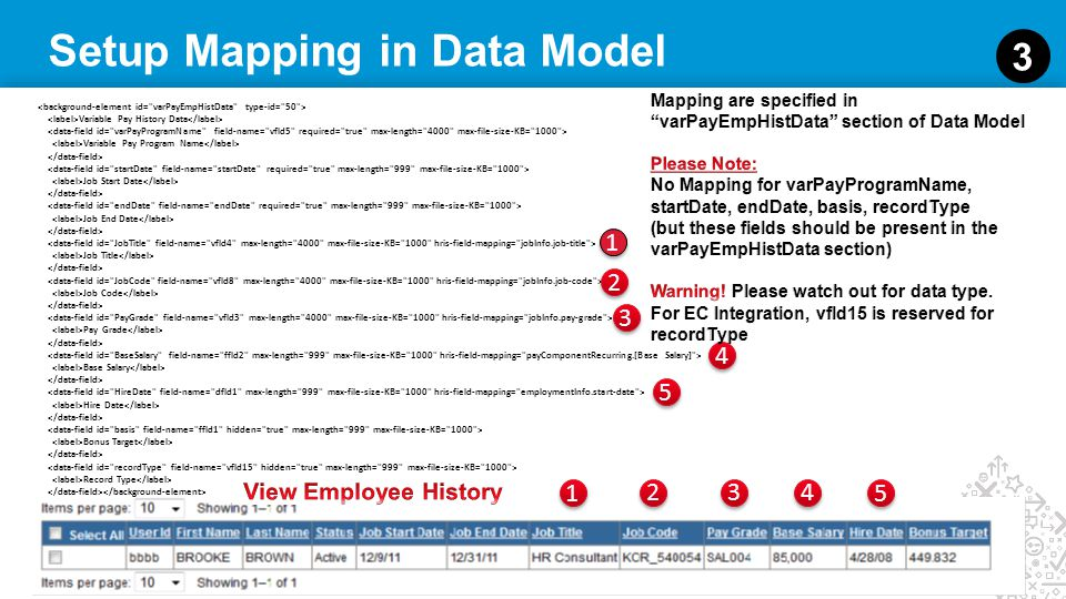 Setup Mapping in Data Model