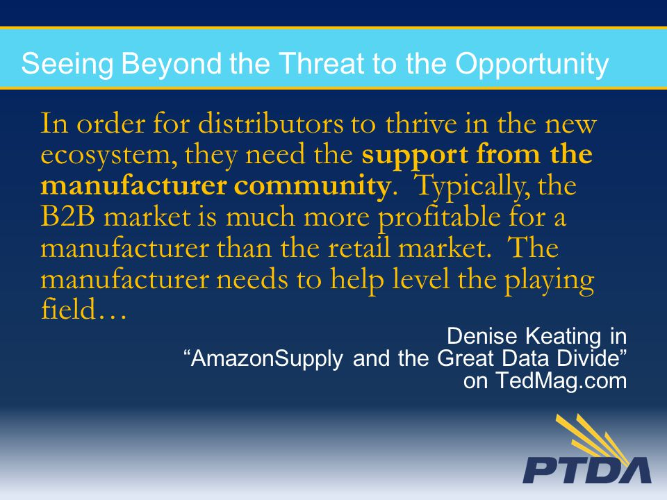 Seeing Beyond the Threat to the Opportunity