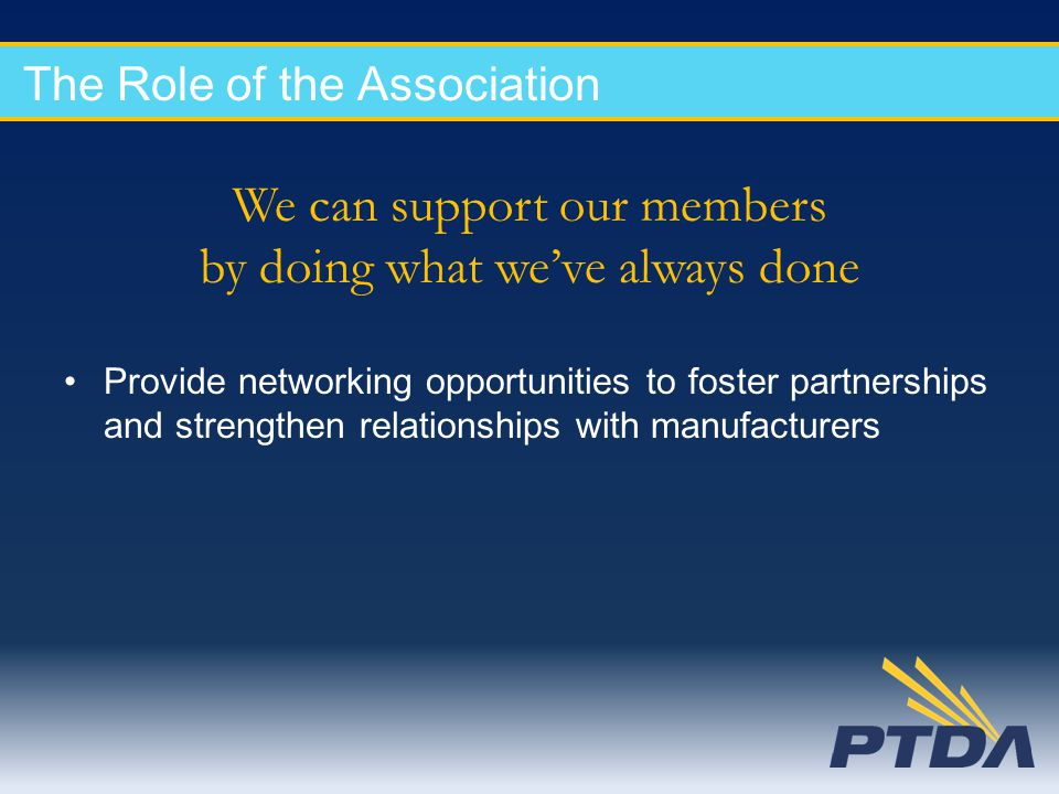 The Role of the Association