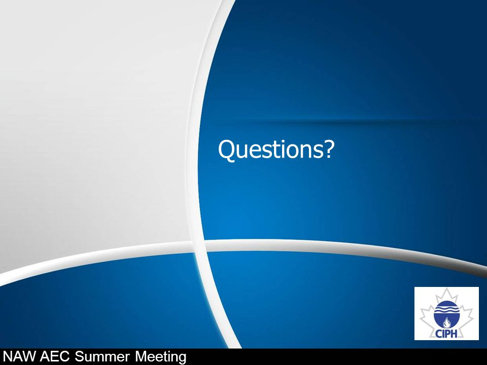 Questions NAW AEC Summer Meeting 34