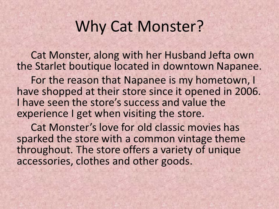 Why Cat Monster