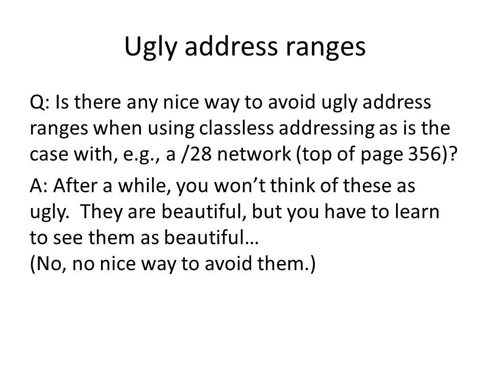 Ugly address ranges