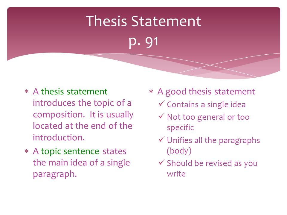 can a thesis be at the end of an essay