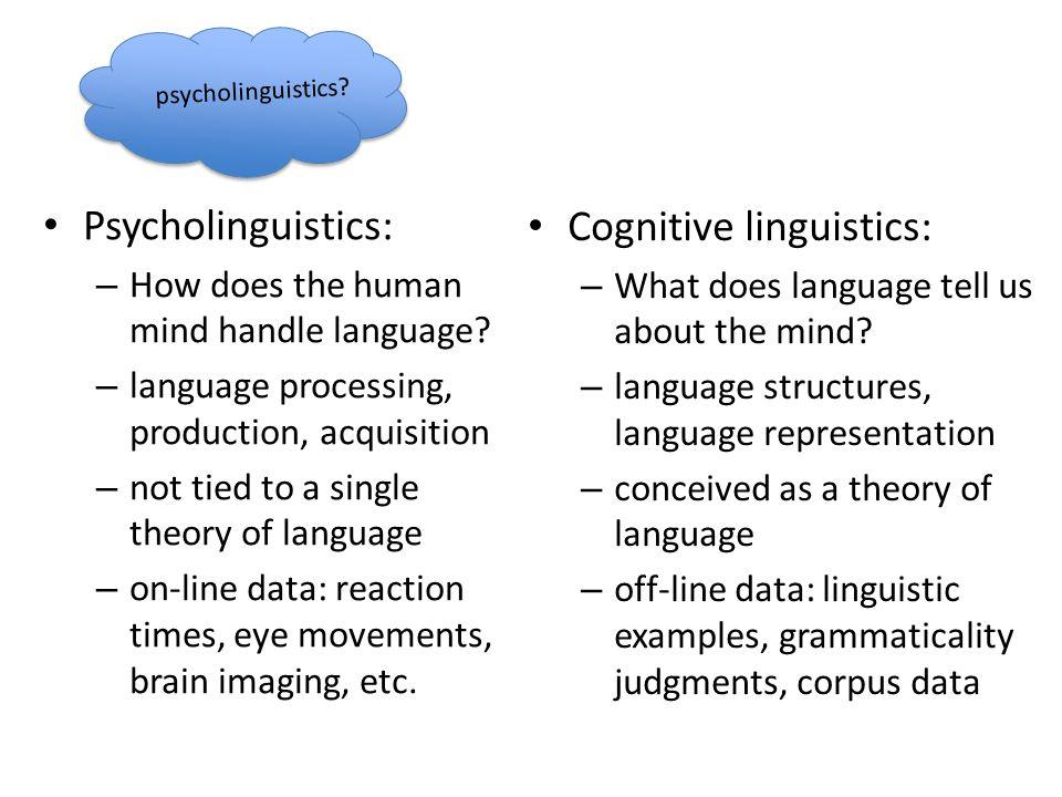 Cognitive linguistics: