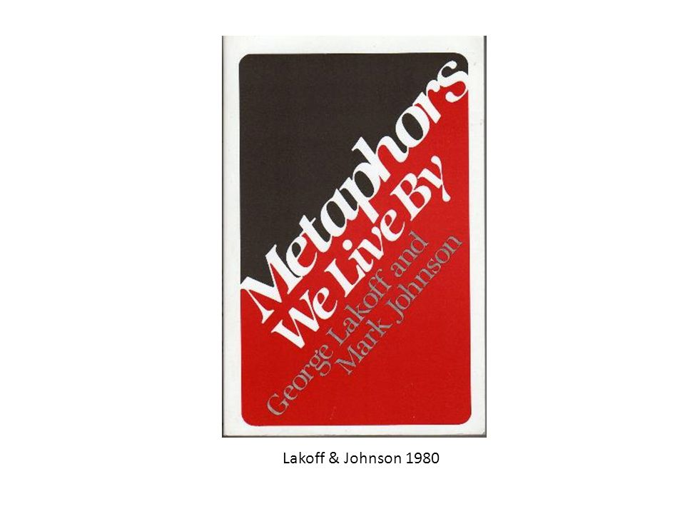 Lakoff & Johnson 1980