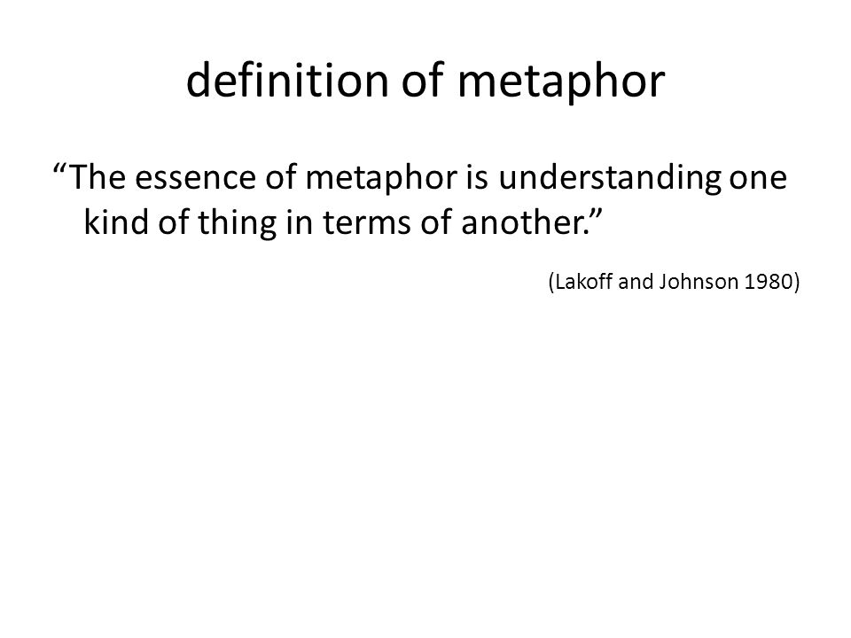 definition of metaphor