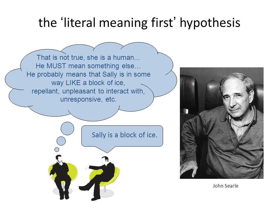 the 'literal meaning first' hypothesis