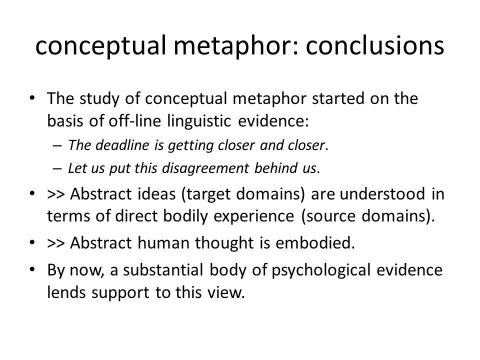 conceptual metaphor: conclusions