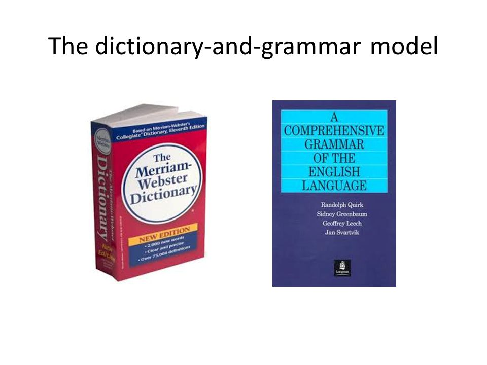The dictionary-and-grammar model
