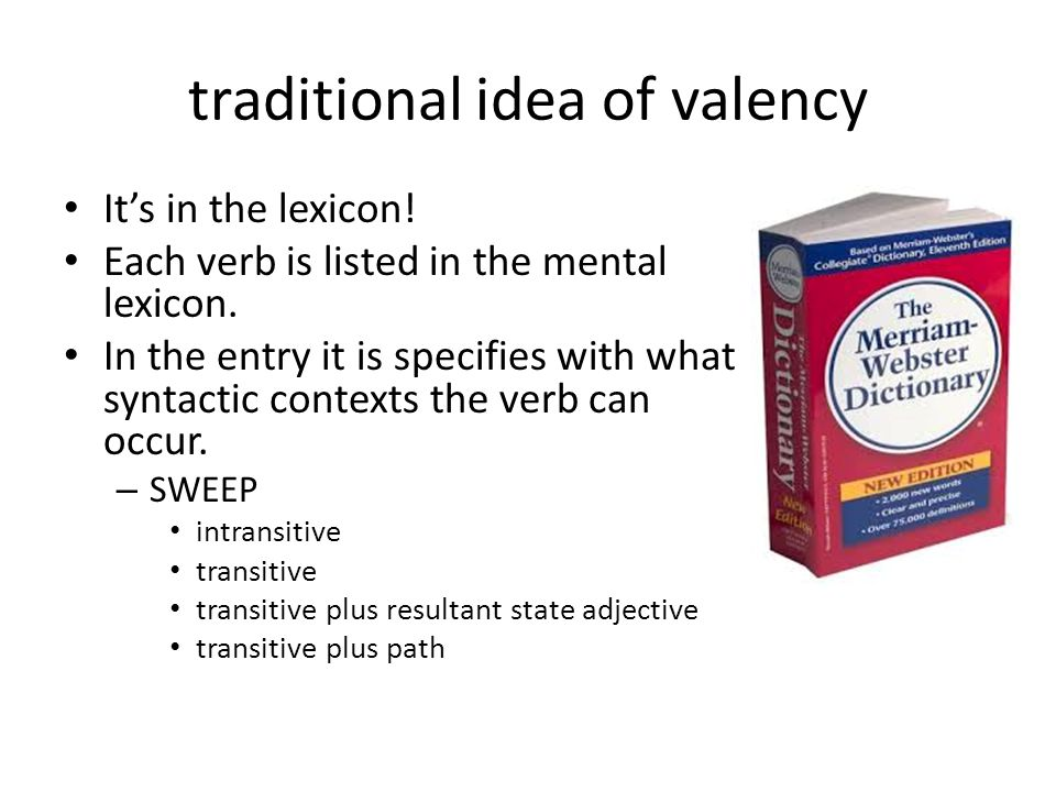 traditional idea of valency