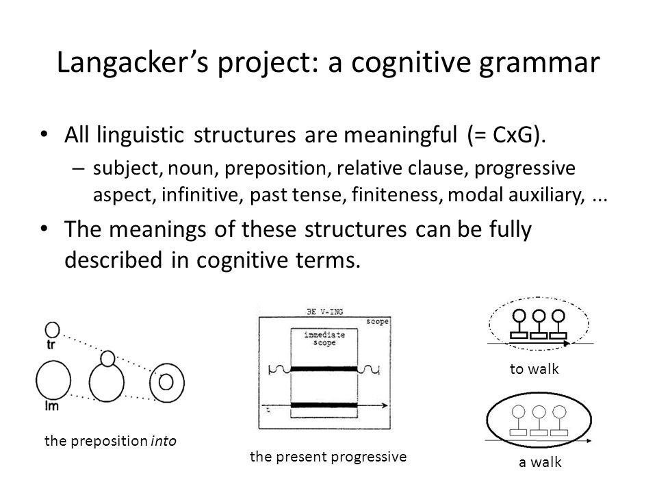 Langacker's project: a cognitive grammar