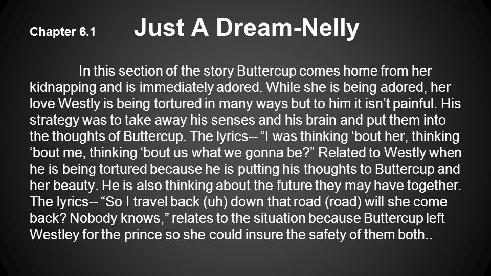 Chapter 6.1 Just A Dream-Nelly