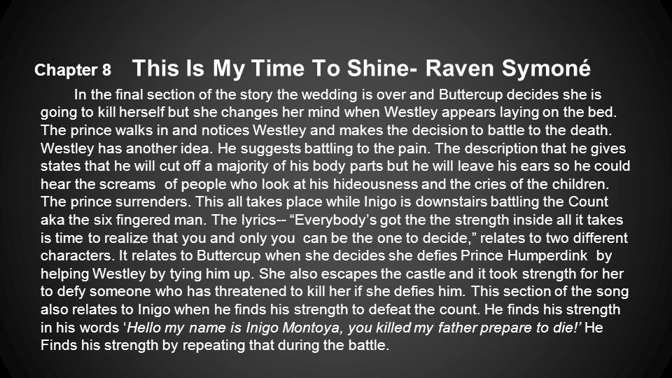 Chapter 8 This Is My Time To Shine- Raven Symoné