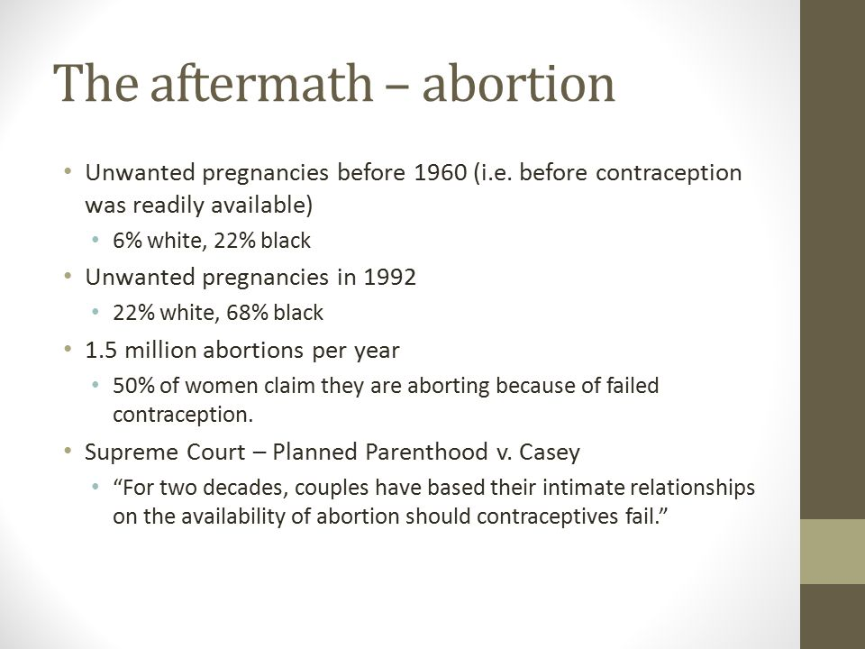 The aftermath – abortion