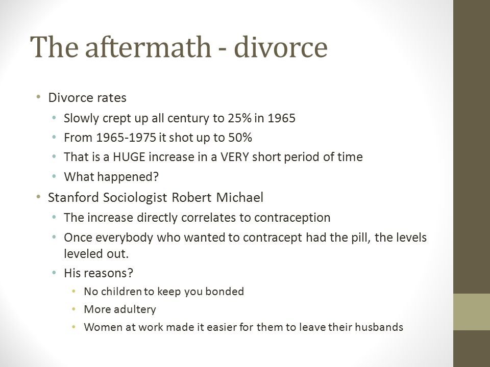 The aftermath - divorce
