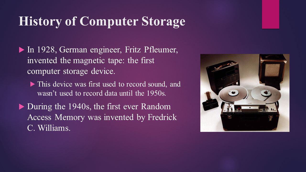 History of Computer Storage