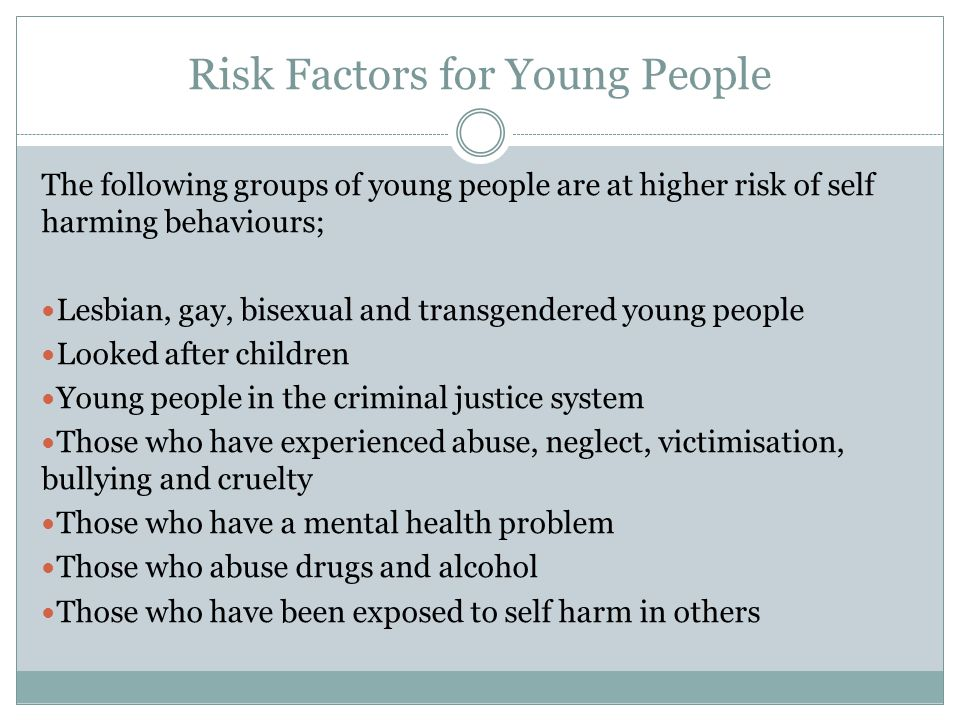 Risk Factors for Young People