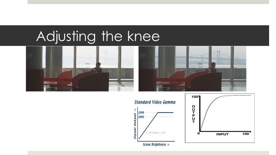 Adjusting the knee