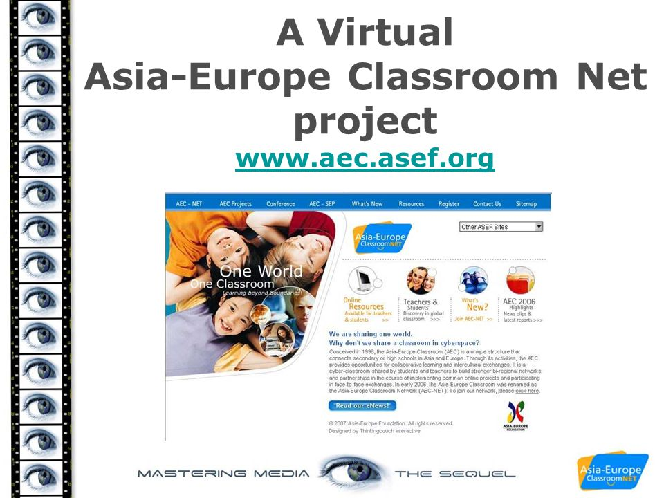 A Virtual Asia-Europe Classroom Net project www.aec.asef.org