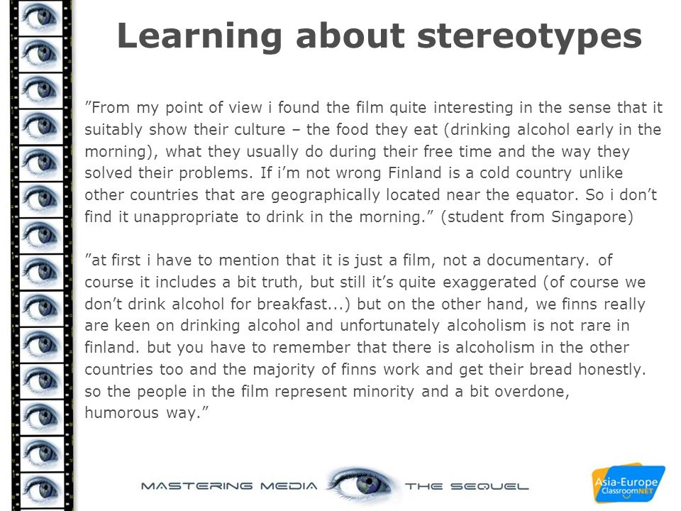 Learning about stereotypes