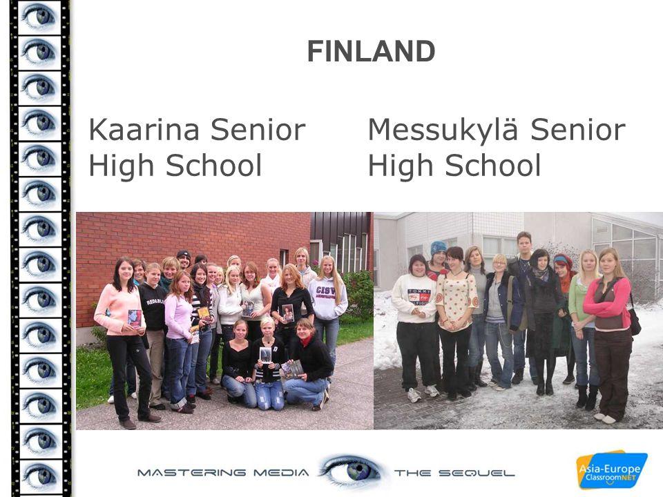 FINLAND Kaarina Senior High School Messukylä Senior High School