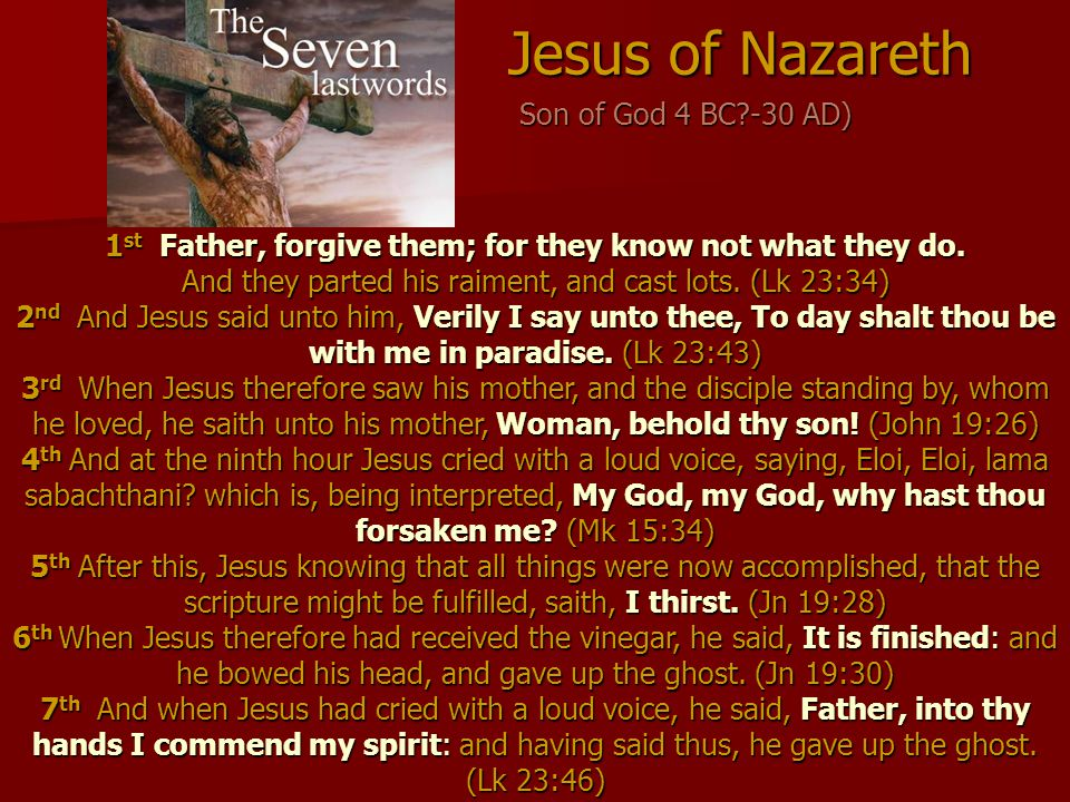 Jesus of Nazareth Son of God 4 BC -30 AD)