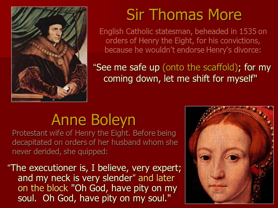 Sir Thomas More Anne Boleyn