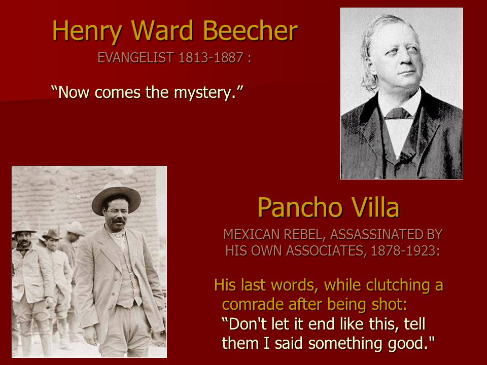 MEXICAN REBEL, ASSASSINATED BY HIS OWN ASSOCIATES, 1878-1923: