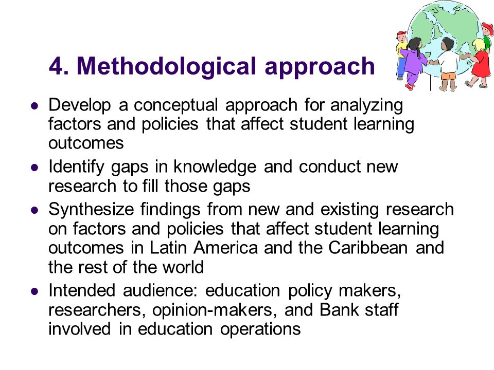 4. Methodological approach