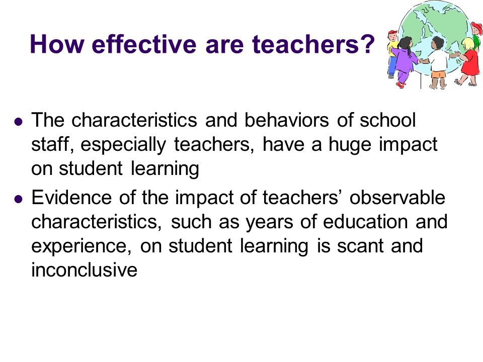 How effective are teachers