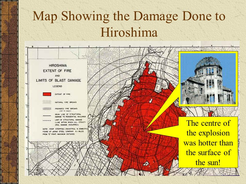 Map Showing the Damage Done to Hiroshima