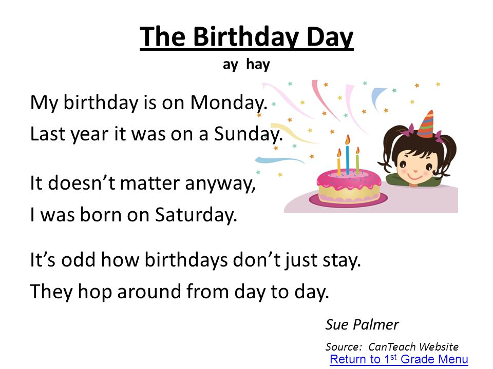 The Birthday Day ay hay