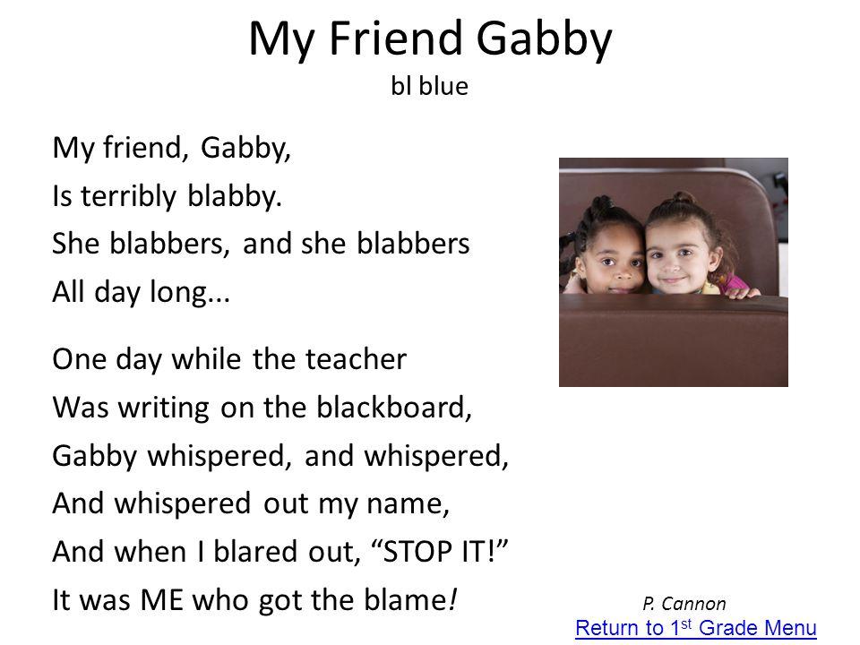 My Friend Gabby bl blue