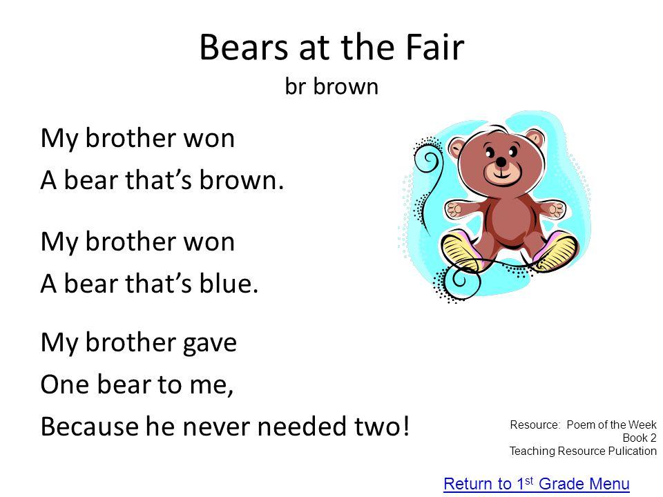 Bears at the Fair br brown