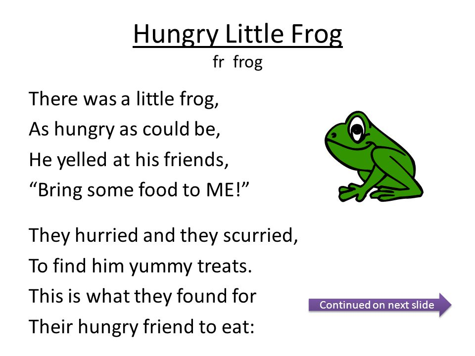 Hungry Little Frog fr frog