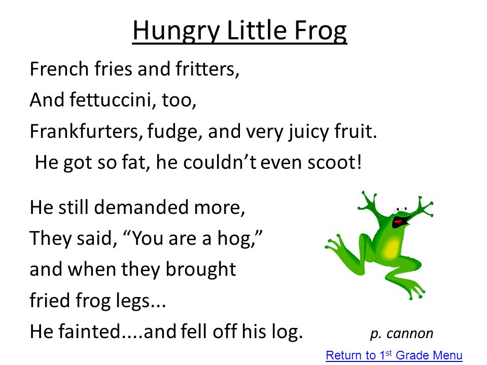 Hungry Little Frog